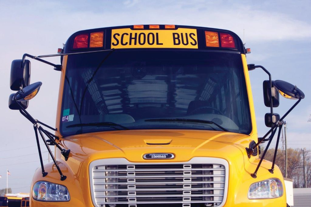 C2 Thomas School Bus windshield