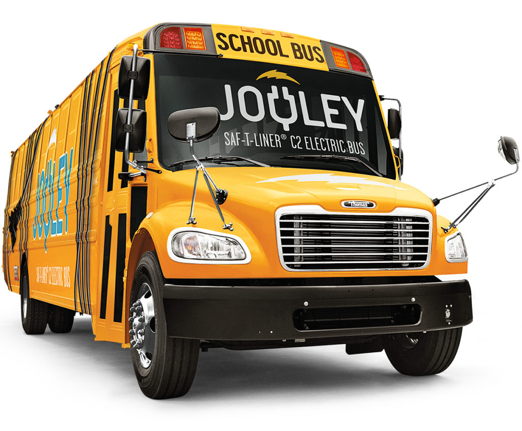 Jouley Thomas Built Buses Electric School Bus
