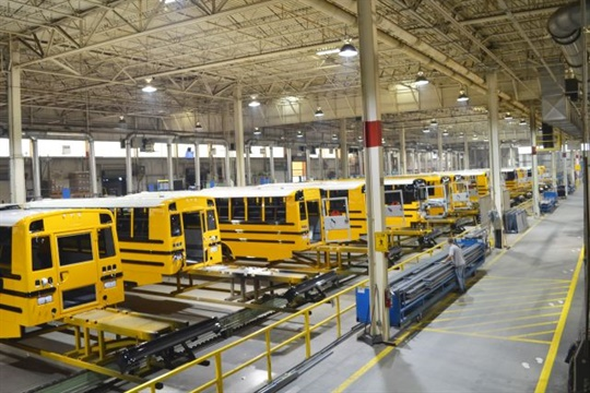 Thomas Built Buses Manufacturing Plant
