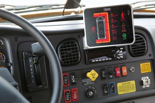 Thomas Built Buses Pedestrian Detection Tablet