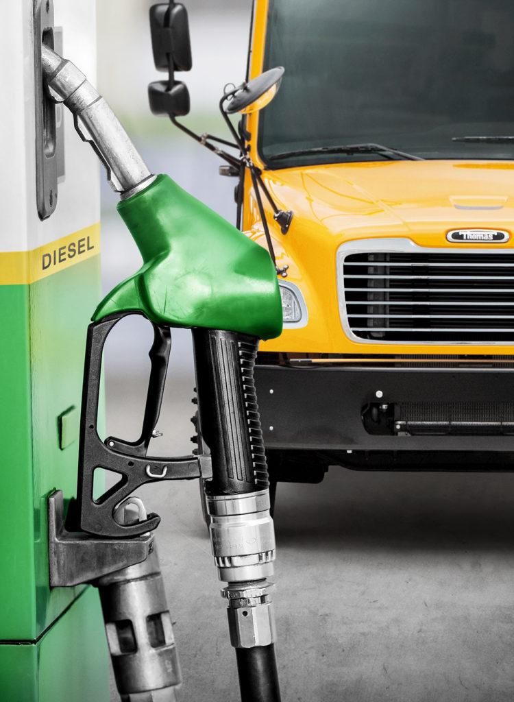 Clean diesel gas pump
